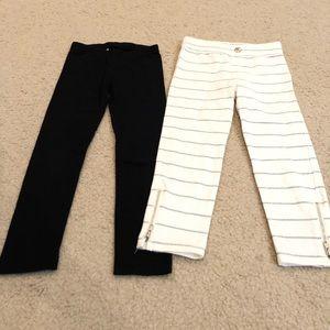 Like new 4/5T black white leggings Circo Old Navy